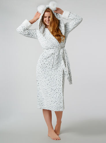 Snow leopard dressing gown