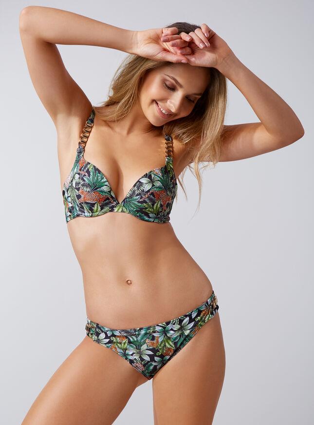 Jungle cheetah print boost bikini top
