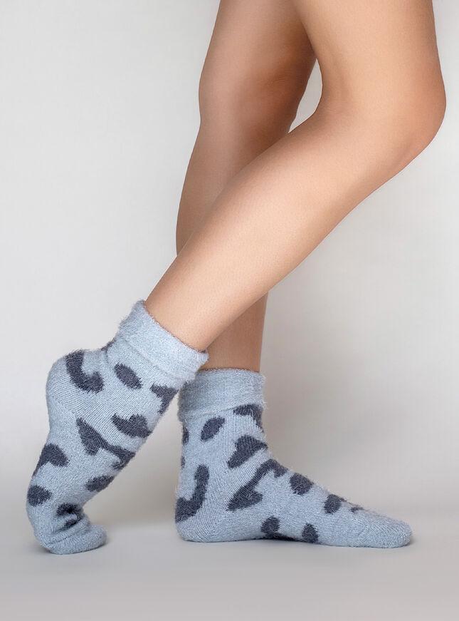 Leopard cosy socks