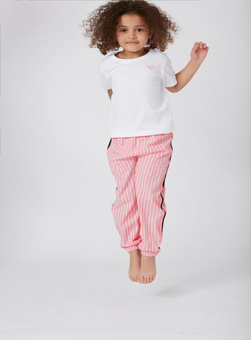 Girls stripe tape pyjama set