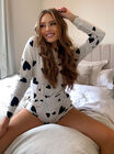 Heart print hoodie and shorts