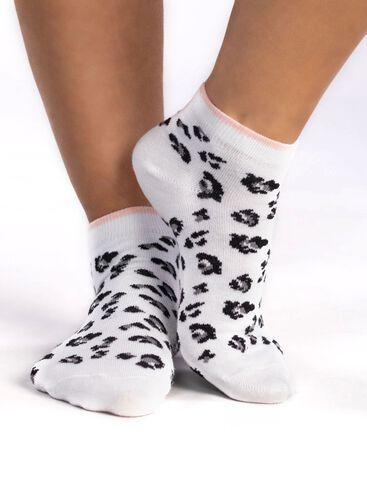 3 Pack Leopard trainer socks