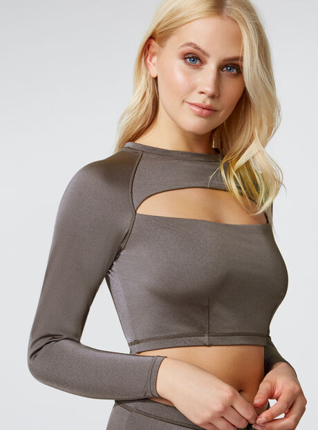 Activewear cut-out rash vest