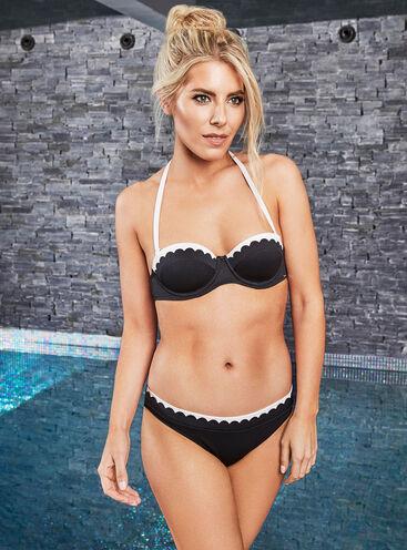 Limassol scalloped bikini top
