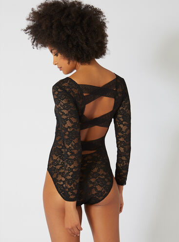 Strappy back lace body
