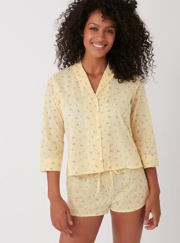 Floral dobby short pyjama set