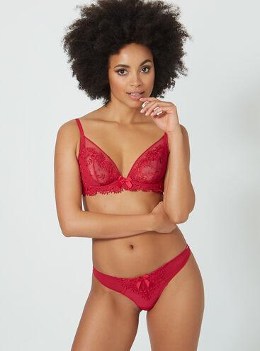 Bridgette non-padded plunge lingerie set