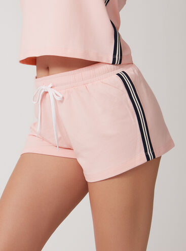 Retro sport stripe shorts