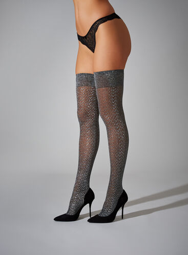 Sparkle over the knee socks