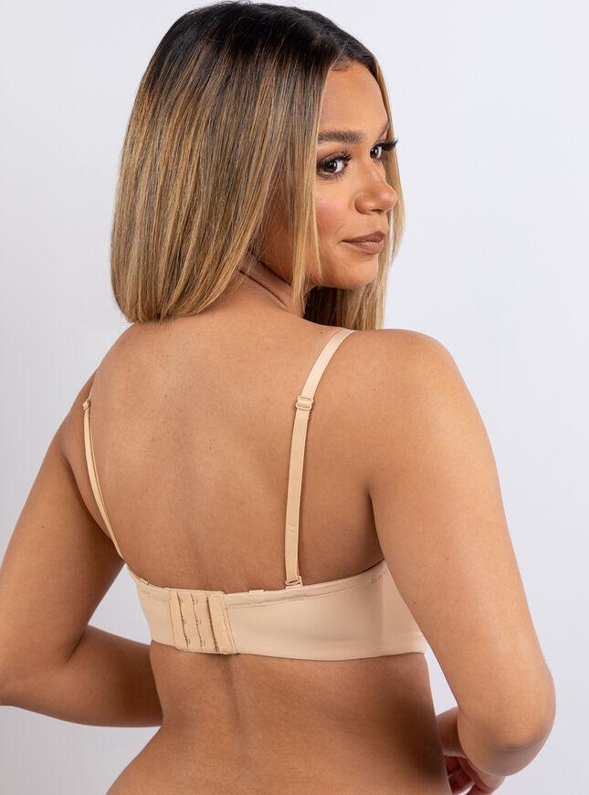 Microfibre strapless bra