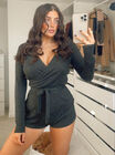 Ava lounge wrap front playsuit