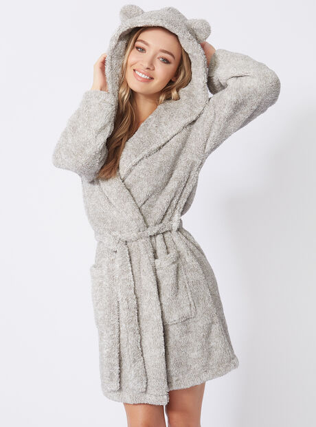 Pom teddy dressing gown