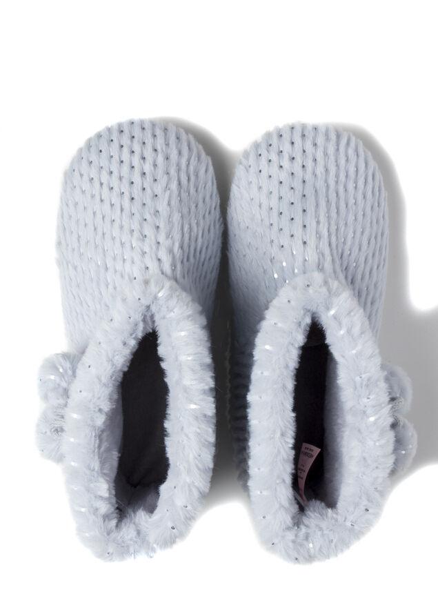 Foil fur boot slippers