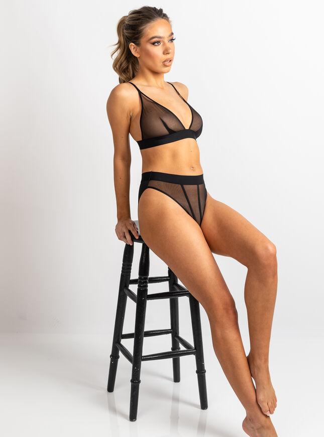 Boux lounge mesh triangle lingerie set