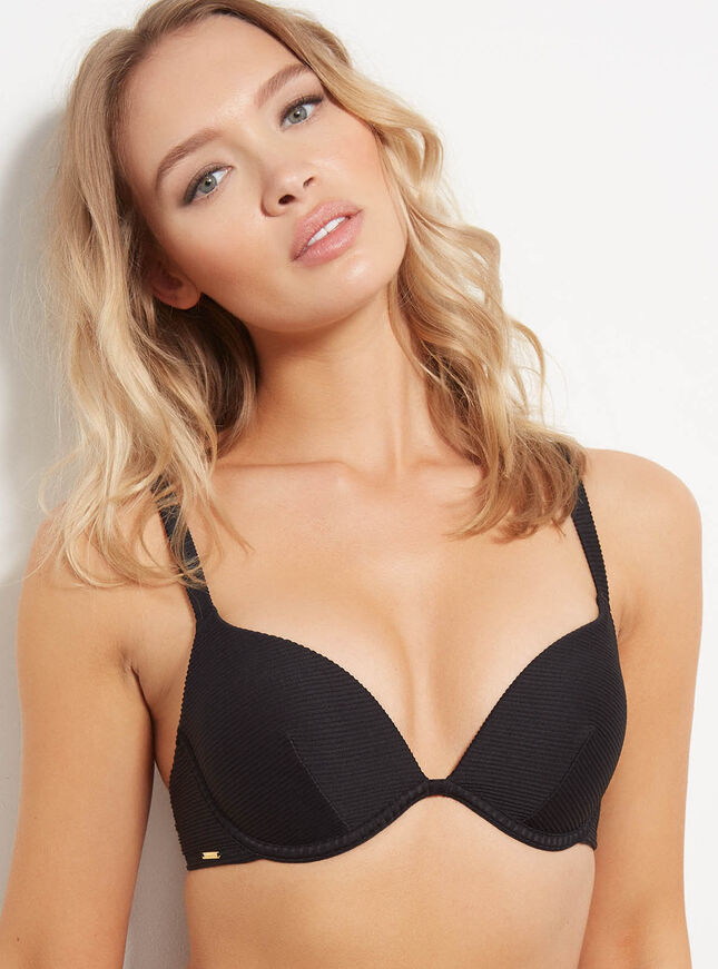 Ribbed boost bikini top