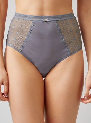 Spot mesh high-waisted briefs