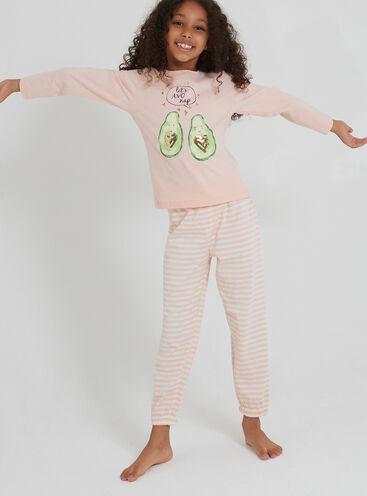 Girls avocado pyjama set