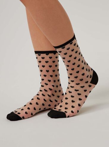 Sheer heart socks