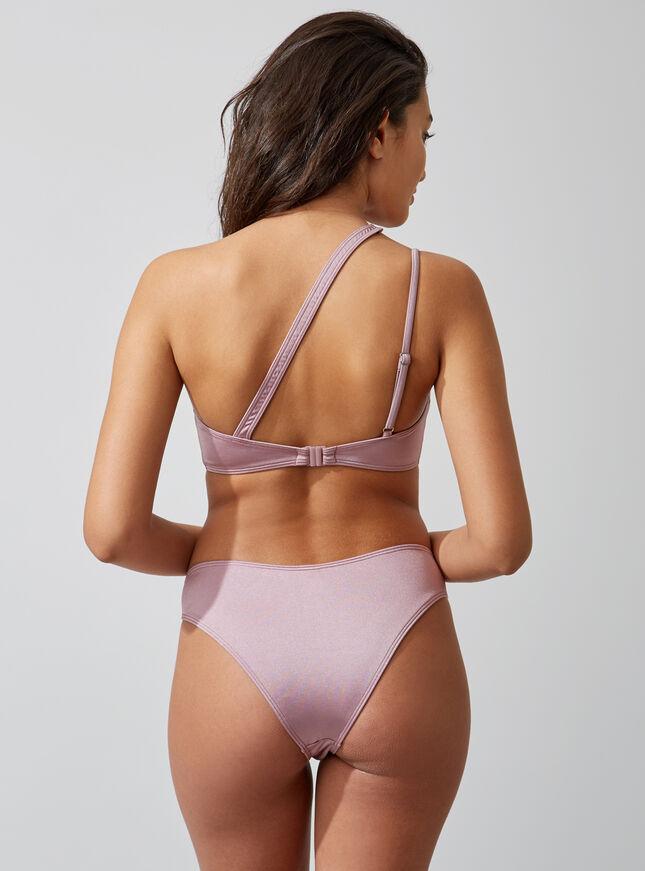 Activewear high-leg Brazilian bikini briefs