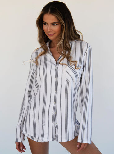 Mono stripe pyjama set