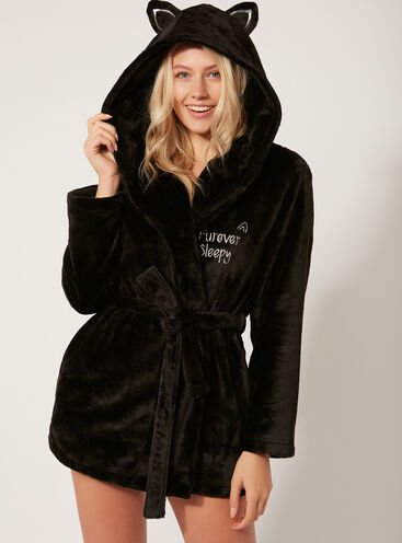 Black cat robe