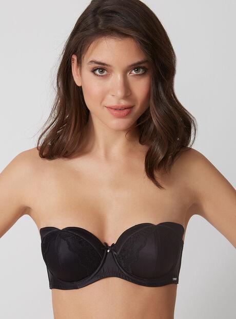 Esther strapless satin bra