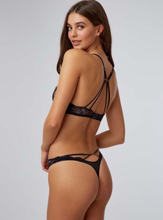 Amari strappy lace thong