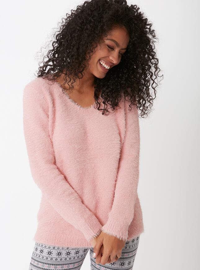Fluffy knit jumper