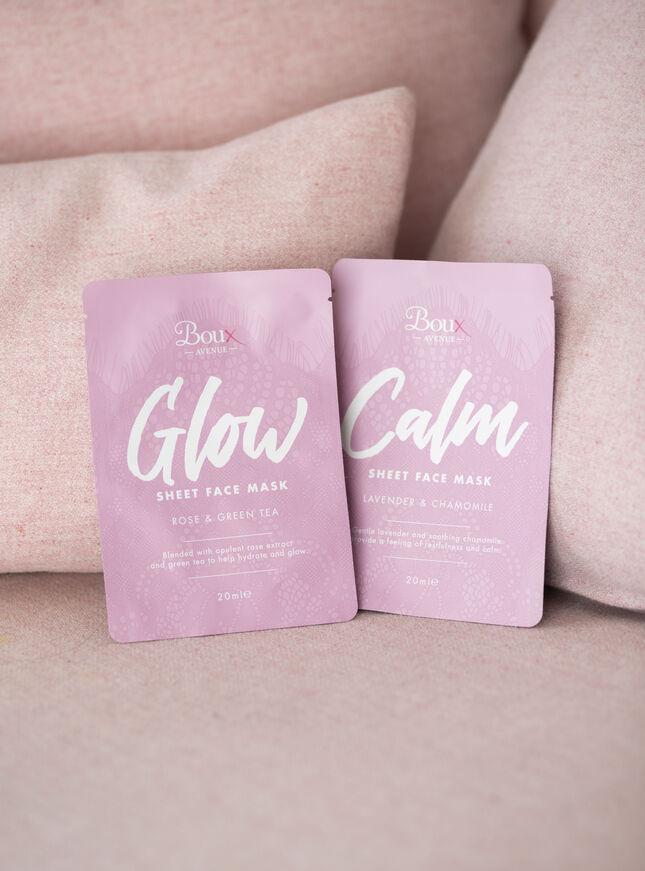 Glow sheet face mask
