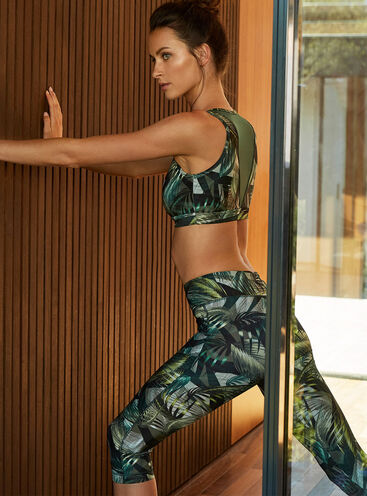 Activewear printed cropped leggings