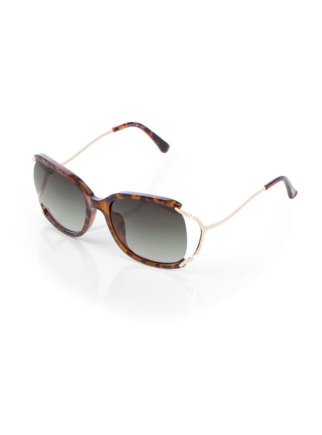 Cut out tortoise shell sunglasses