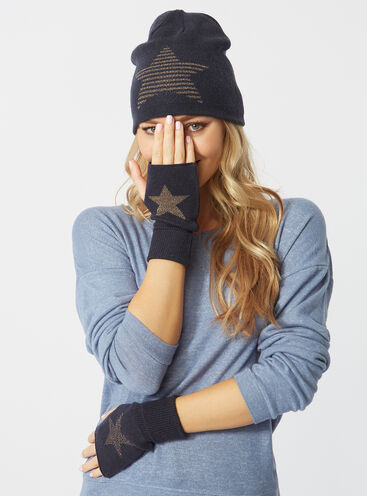 Fingerless star gloves