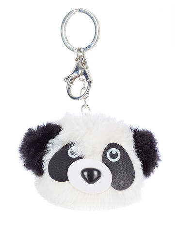 Fluffy panda keyring