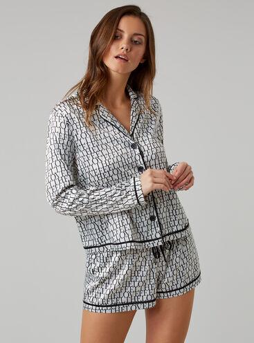 'Feel the love' satin pyjama set