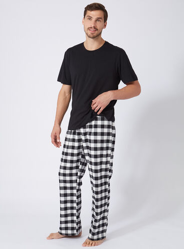 Mens gingham pyjama set
