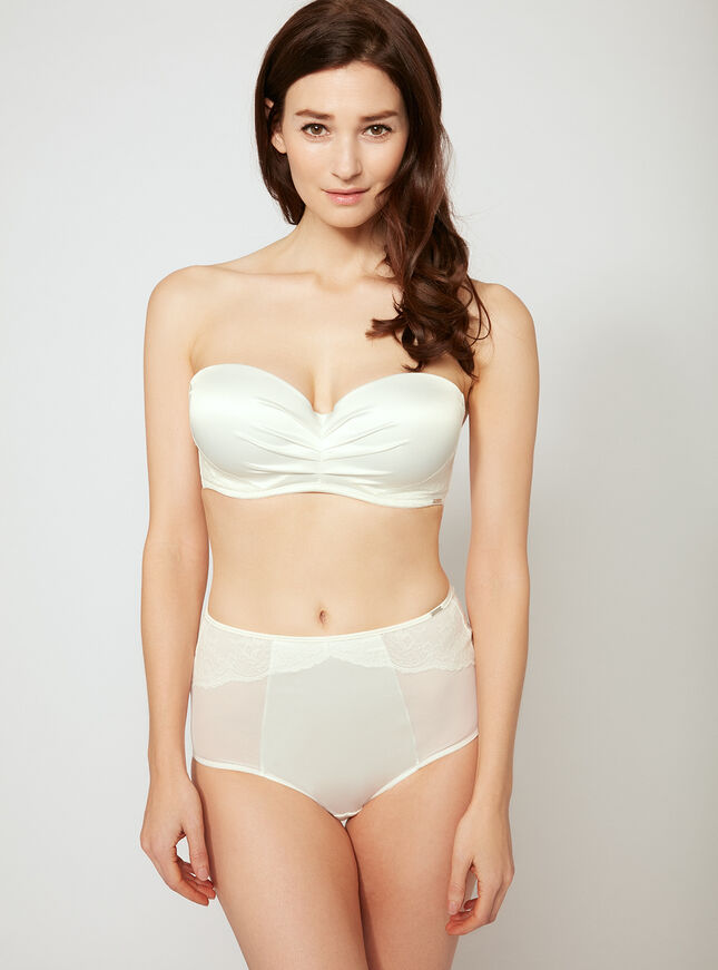 Tabitha satin high-waisted briefs