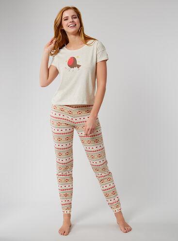 Robin Fairisle pyjama gift set