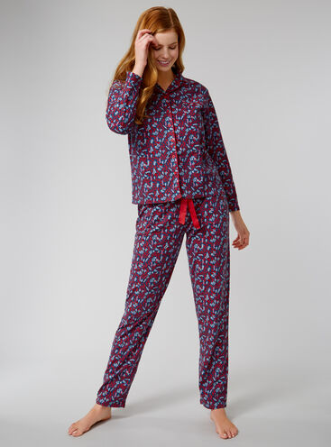 Winter floral PJs in a bag