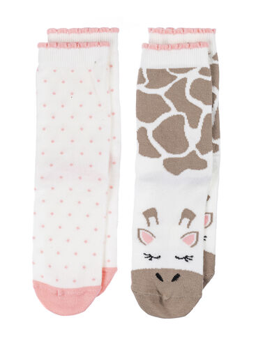 2 pack giraffe ankle socks