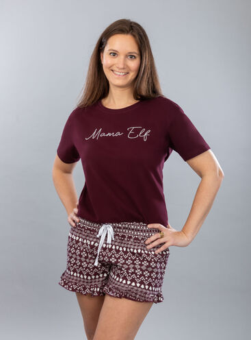 """Mama elf"" tee and short set"