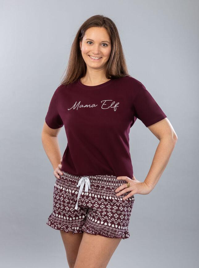 """Mama elf"" tee and short set"