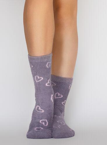 Heart 2 pack cosy socks