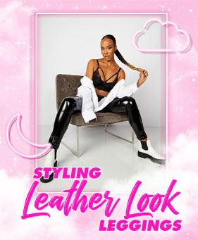 Styling leather leggings
