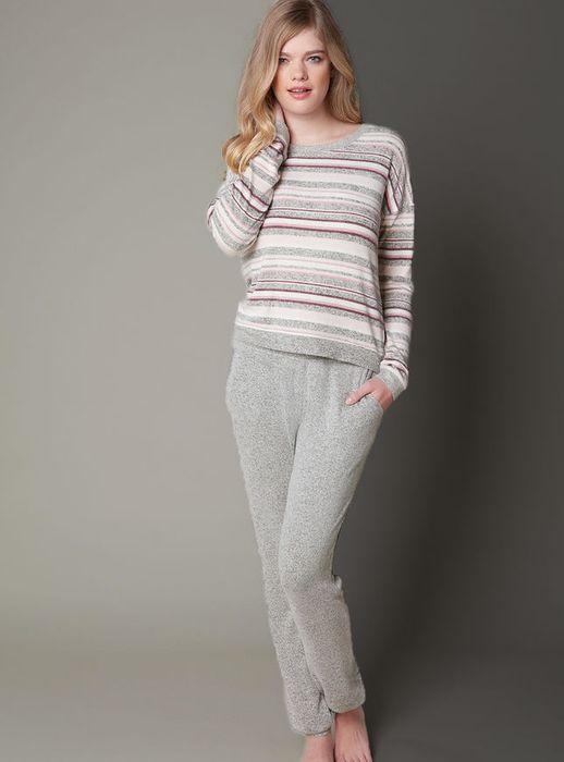 Nia stripe top and lounge pants
