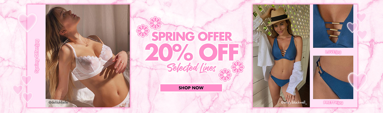 Spring offer 20% off selected lines