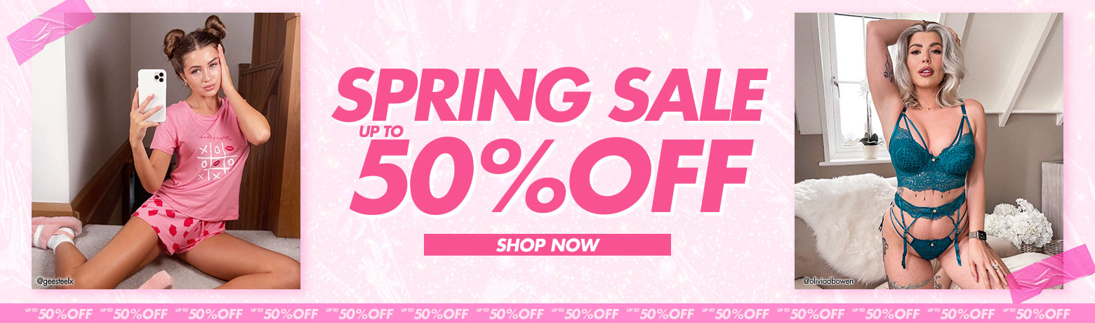 Spring sale up to 50% off