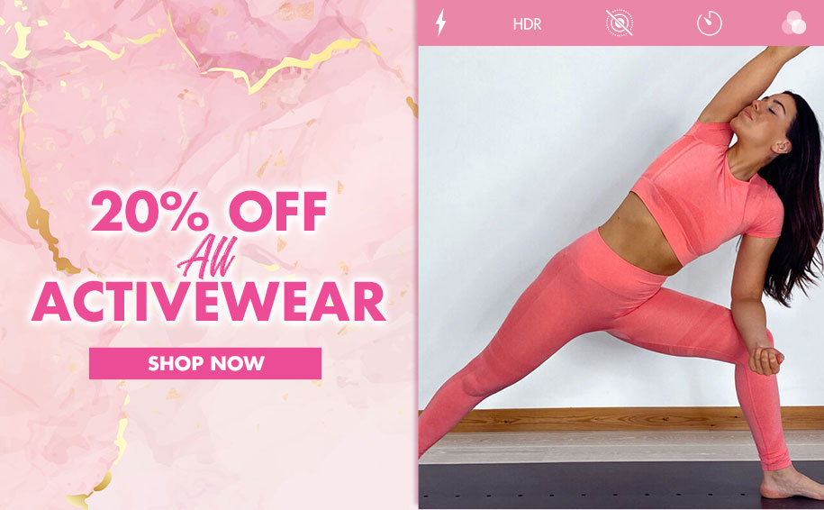 20% off activewear