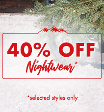 40% off selected nightwear