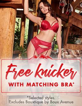 Free knikcers with matching bra