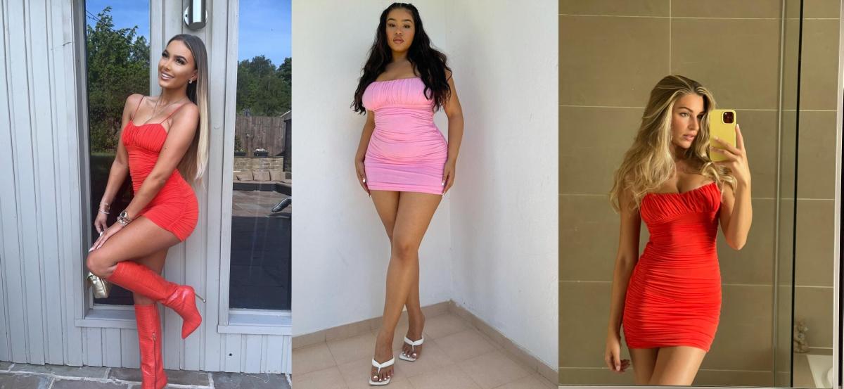 Daisey, Yelna & Zara in the Aisha Ruched Bodycon Dress